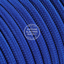 Blue Round Cloth Covered Electrical Wire - Braided Rayon Fabric Wire