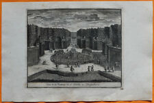 VAN DER AA Gravure originale c1725 VUE DE LA FONTAINE DE L'ÉTOILE À VERSAILLES
