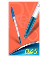 10 Ball Point Pens Blue Ink 10 X Reynolds 045 Fine Carbure Ballpoint Pens