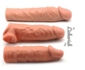 Brown Penis Sleeve Extender Enlarger Premature Ejaculation & Impotence Aid