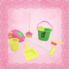 6X/Set Home Möbel Reiniger Reinigungsset Für Barbie Puppenhaus Mädchen Geschenk^