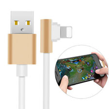 Lightning Right Angle Charger 90 Degree USB Data Sync Cable Lead i Phone 5 6 6S