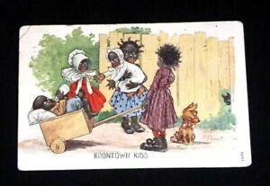 KOONTOWN KIDS color postcard posted 1 cent stamp  Black Americana R. F. Outcault