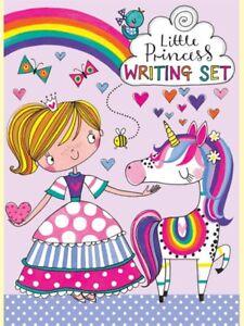 Unicorn Princess Writing Set Wallet Rachel Ellen Designs Girl Notepaper Stickers