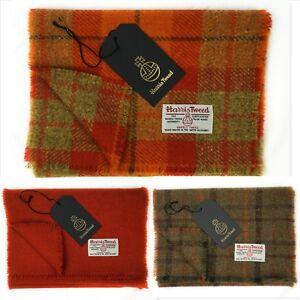"""Harris Tweed Pure Wool Luxury Mens & Womens Fringed Scarf 60"""" 150cm Length.."""
