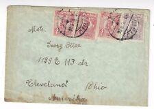 1926 Sibiu Romania to Cleveland Ohio, 1L, Three 3L Stamps