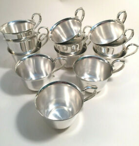 10 Vintage Gorham Silver Punch Cups Revere style YC790/EP EXC COND!
