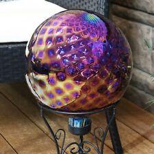 "Sunnydaze Garden Gazing Globe Jewel Tone Trellis Red Glass Orb Lawn Decor - 10"""