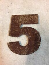 Steel House Number Rustic Rusted Decor Decommissioned Man Cave