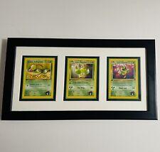 Framed 1st Edition Gym Heroes Pokemon Card Display Erika's Victreebel Evolutions