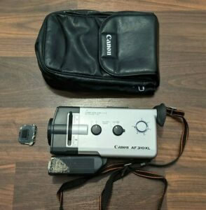 Canon AF310XL Super 8mm Movie Camera Working w/ Case Tested and Working!