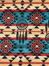 Fabric Native American Dreamcatchers Southwestern on Cotton by the 1/4 yard TB
