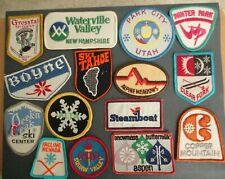 Lot of 15 Vintage Lot Ski Patches - unused