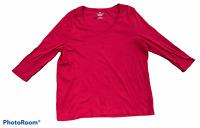 Woman's TALBOTS Pink 3/4 Sleeve Blouse Top Shirt PLUS Petite Size 2XP XXL P