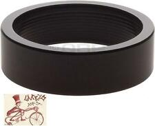 "WHEELS MANUFACTURING 10MM 1-1/8"" BLACK SPACERS BIKE HEADSET PART-BAG OF 5"