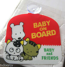 1x Baby on Board Safety Sign w/ Suction Cup Magnet Car Sticker Winder Auto Truck