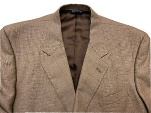 Burberry London Men's Blazer Sport Coat Size 44L Wool Silk Blend