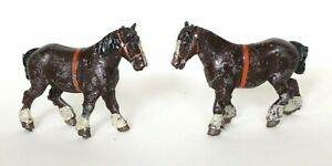 Vintage Two Horses/  Lead Toy Figure -Made in England