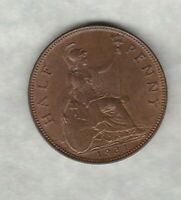 1931 GEORGE V HALF PENNY IN NEAR MINT CONDITION