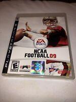 NCAA Football 09 PLAYSTATION 3 (PS3) Sports (Video Game) No Manual