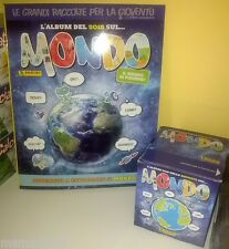 MONDO Album vuoto Panini + BOX DISPLAY 50 BUSTINE 250 FIGURINE tuten packet full