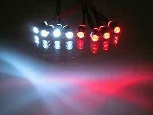 RC LED Lights Headlights Brake LightsTraxxas, Losi Arrma Hobao  4W4R 3mm
