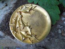 Ancien vide poche coupelle en bronze doré par L.Rigot décor Houx porte bonheur