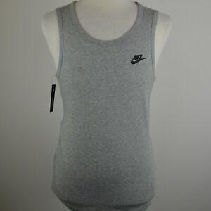 Men's Nike Sportswear Grey Sleeveless Vest Tank Top Small