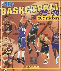 1995-96 PANINI NBA BASKETBALL STICKER SET (missing one)