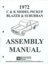 1972 CHEVY TRUCK C & K SERIES PICKUP, BLAZER & SUBURBAN  ASSEMBLY MANUAL