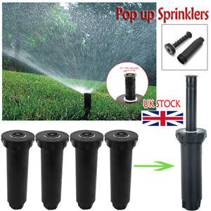 360° Sprinklers Pop up Plastic Lawn Irrigation Gardening Watering Sprinkler