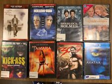 Box Lot of 8 Pre-owned DVDs - Avatar, A Perfect World, Sherlock Holmes, Kick-Ass