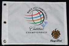 BUBBA WATSON AUTOGRAPHED CADILLAC CHAMPIONSHIP GOLF FLAG (W/ PROOF!)