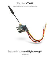 Eachine VTX01 Super Mini 5.8G 40CH 25mW RC FPV Transmitter UK Legal orangeRX -uk