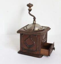 Orig. antike Blech-Kaffeemühle mit Keramik-Mahlwerk ~1900