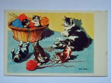 GATTO CAT mamma gattini vecchia cartolina AK old postcard Jean Paris