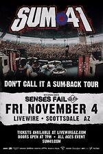 """Sum 41 """"Don'T Call It A Sum-Back Tour"""" 2016 Phoenix Concert Poster"""