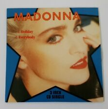 MADONNA - 3 INCH SINGLE - HOLIDAY + EVERYBODY - RARE