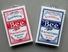 NEU! BEE Playing Cards 92 - NARROW size,  rot oder blau - USPCC - OVP