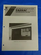 YASKAWA YASNAC MX1 DUAL PROCESSOR CNC SPECIFICATION BOOKLET SIE-C843-7.30B