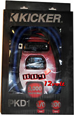 Kicker PKD1 P-Series 1/0 Gauge 2-Channel Dual Amp Full-Spec Power Wiring Kit