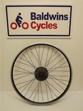 700c REAR DISC BRAKE Bike Wheel D/ WALL - BLACK Q/R + 9 SPEED SHIMANO CASSETTE