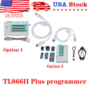 USB TL866II Plus Programmer EPROM EEPROM Flash MiniPro With 7 Expansion Board