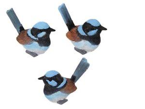 24 x Mini Blue Wren Bird Craft Fairy Miniature Figurine Home Cake Decoration
