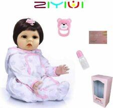55CM Bambole Reborn Silicone Morbido Vinile Fatto a Mano Vita Reale Reborn Baby
