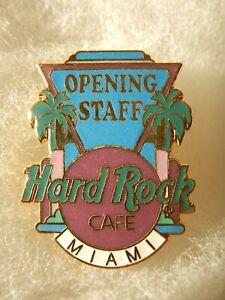 HARD ROCK CAFÉ MIAMI OPENING STAFF EMPLOYEE RARE PIN