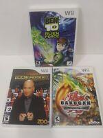 Ben 10: Alien Force , Deal Or No Deal , & Bakugan - Lot of 3 Nintendo Wii Games