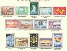 Tonga QEII 1953 Definitive set of 14 SG101/14 Mounted Mint