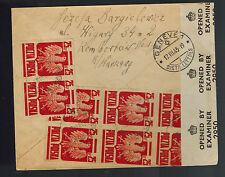 1944 Warsaw Poland Censored Cover to Red Cross Switzerland