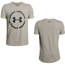 Under Armour Sportstyle Short Sleeve Khaki T-Shirt Boys Youth Sizes NEW